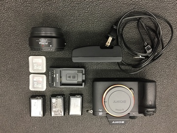 Rent: sony a7ii package with ef adaptor and 3 batteries 2 chargers