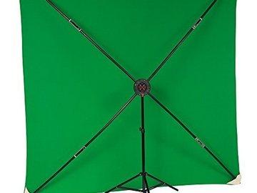 Rent: 8x8' PXB Portable X-Frame Backdrop Kit, Chroma Green
