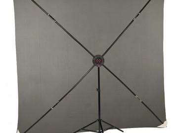 Rent: 8x8' PXB Portable X-Frame Backdrop Kit, Light Grey