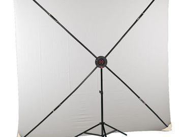Rent: 8x8' PXB Portable X-Frame Backdrop Kit, White Cyc