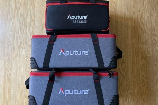 Aputure 3 light kit (2) 300D II's (1) 120D II + Domes