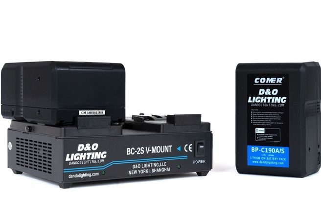 2 x 190Wh + 1 x 95W V-Mount Batteries + Dual V-Mount Charger
