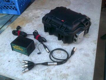 Rent: Brick Battery 28ah 4-pin, cig connectors w/charger & invertr