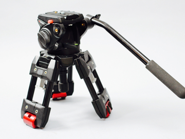 Rent: Manfrotto 529 Hi Hat with 100mm Bowl and 501HDV fluid head