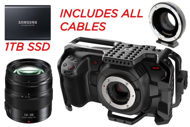 BMPCC 4K KIT (READY SHOOT!) + 1TB SSD + Lens + EF adapter +