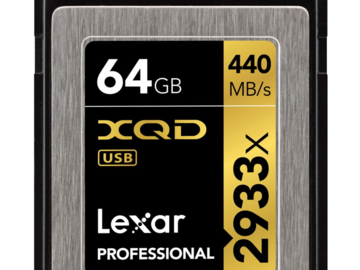 Rent: Set of (x4) Lexar 64GB XQD 2.0 Memory Cards