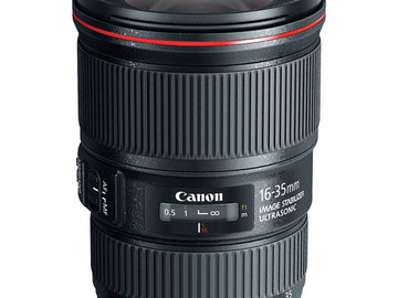 Rent: Canon 16-35mm f4 L-Series IS USM EF Zoom Lens