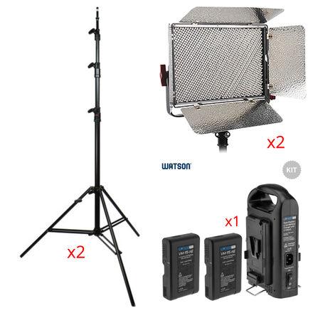 (1) Aputure LS 1c Bi-Color Light, Stand and (2) Batteries