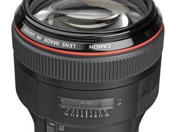 Rent: Canon EF 85mm f/1.2L II USM Lens