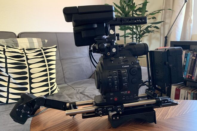 C300 Mark II with shoulder rig
