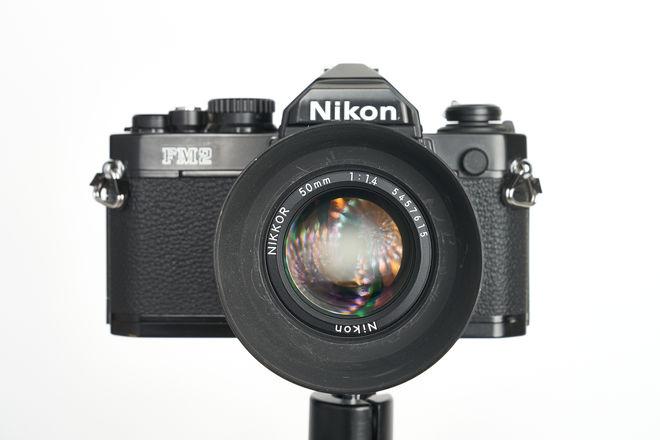 Nikon FM2n W/50mm f1.4 ais lens 35mm film SLR