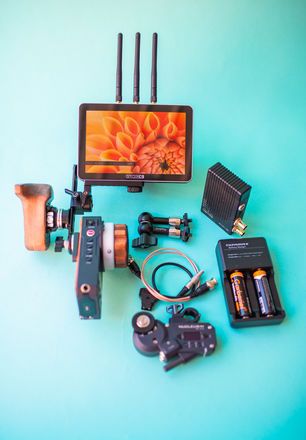 Tilta Nucleus Follow focus with Teradek 500 monitor