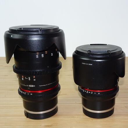 Rokinon Cine Lens Set, 35mm & 50mm