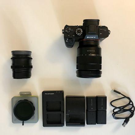 Sony Alpha a7S II+Sony 16-35 Zoom Lens+SLR 50mm Package