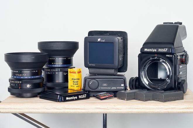 Ultimate Mamiya RZ67 Pro II 3 lens Analog + Digital Back kit