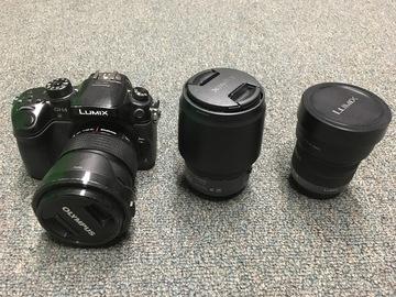 Rent: GH4 (Vlog) + Lumix 7-14mm + Olympus 12-40mm + Lumix 35-100mm