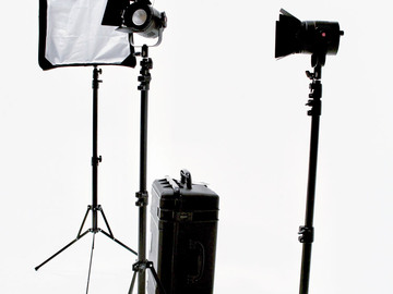 Rent: Fiilex P360 3-light kit with stands, barndoors and softbox