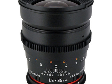 Rent: Rokinon 35mm Cine lens