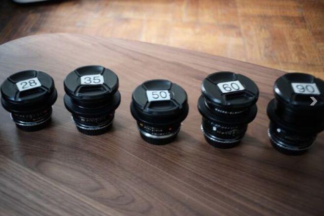 Cinevised Leica R Lens Set of 5 (28/35/50/60/90)