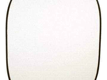 5' x 6.5' Black/White Double-Sided Backdrop