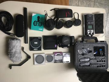 Rent: GH4, 5 Lens, Filters, Tripod, Mics, Audio Recorder