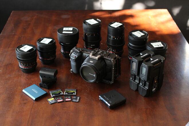 Blackmagic Pocket Cinema Camera *6K*! + ROKINON  Lens Kit