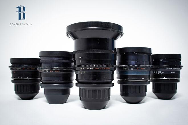 Canon K-35 Prime Lens Set
