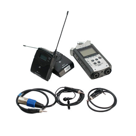 Sennheiser EW 112P G4 Wireless Lavalier & Zoom H4N recorder