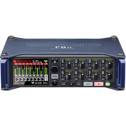 Zoom F8N 8 Track Field Recorder, Bag and Headphones