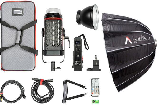 Aputure C300d Mark II LED Light Kit + Light Dome