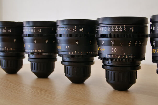 Arri/Zeiss Ultra Primes Set of 3 T1.9 Ultra Prime