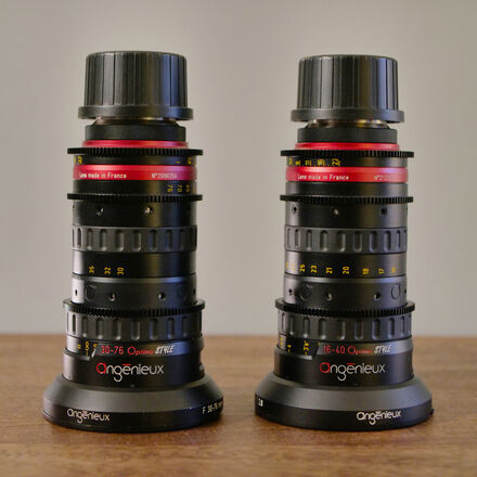 Angenieux Optimo 16-40mm & 30-76mm T2.8 EF or PL Zoom Lens
