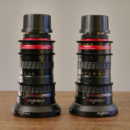 Angenieux Optimo 16-40mm & 30-76mm T2.8 EF or PL Zoom Lens