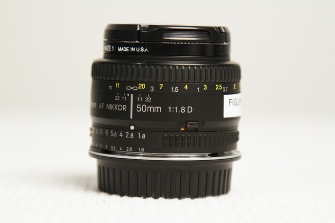 Nikon 50mm 1.8 prime lens with CANON EF MOUNT adapter