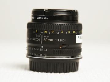 Rent: Nikon 50mm 1.8 prime lens with CANON EF MOUNT adapter