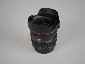 Rent: Canon 8-15mm fish eye zoom lens f4 L series