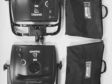 Rent: 2X LitePanels Astra 1x1 Panels, Stands, Soft Boxes