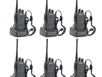 Rent: 8 Two Way Hand Held Walkie Talkie Radios