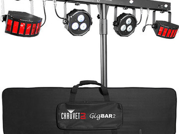 CHAUVET GigBAR 2 - 4-in-1 Multi-Effect DJ/Party Light