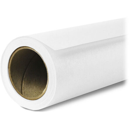 """White Seamless Background Paper (107"""" wide)"""