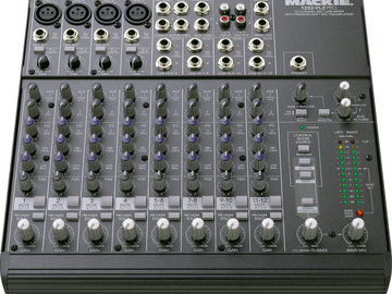 Rent: Mixer Mackie 1202 12-channel compact console type