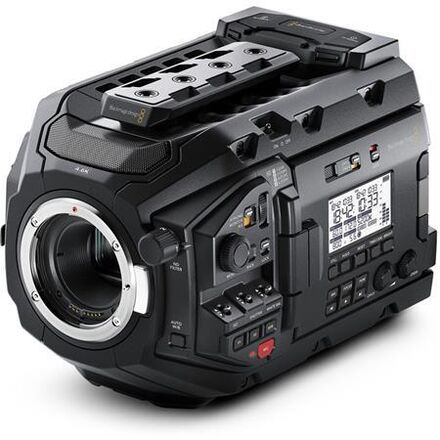 Blackmagic URSA Mini Pro EF mount with V-mounts and Media