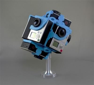 360RIZE (360Heros) Pro7v2- 7 GoPro Hero 4 VR Rig