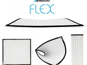 3x Westcott Flex Daylight LED Mat 1' x 1'