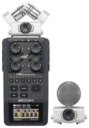 Zoom H6 Handy Recorder with Interchangeable Microphones