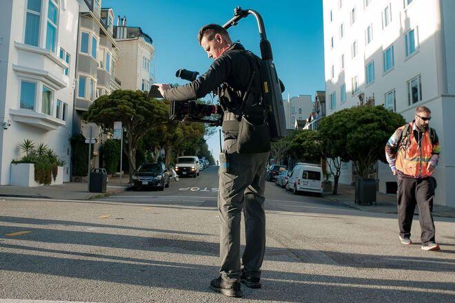 EasyRig Vario 5 with gimbal rig vest (11-38LBS Cameras)