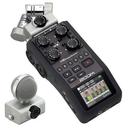 Zoom H6 Recorder w/ Interchangeable Microphone System