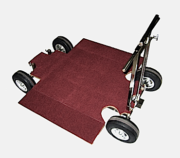 Norm's Doorway Dolly with Slicks, track wheels,  and track