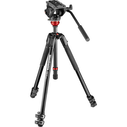 Manfrotto 501 Fluid Video Head with 190X Video Aluminum Trip