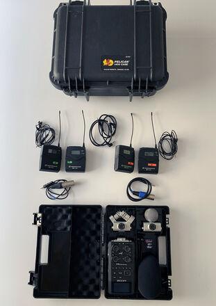 Two (2) Sennheiser ew 100 ENG G3 Wireless Mics + Zoom H6